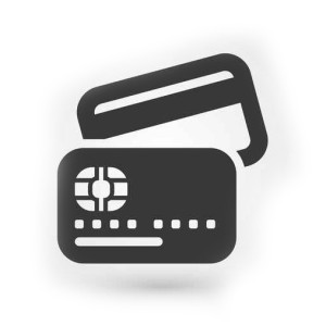 Black credit card icon